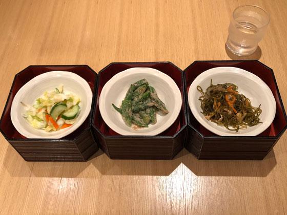 お惣菜3品