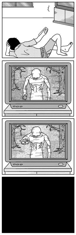 4コマ漫画「リモコン」
