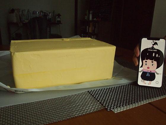 5kgグラスフェッドバターの高さ