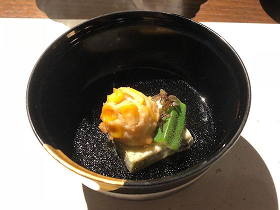 おくら翡翠豆腐