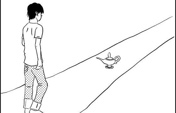 4コマ漫画「願い事1つ」見出し