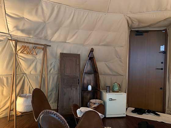 テントの内装